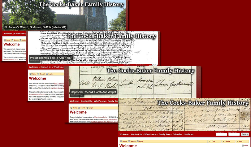Rotating Header Genealogy Site