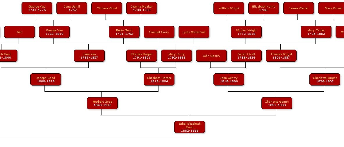 Genealogy Site Vertical Pedigree Chart